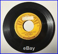 ELVIS PRESLEY Baby Let's Play House SUN 217 ROCKABILLY 45 1st Press Push Marks