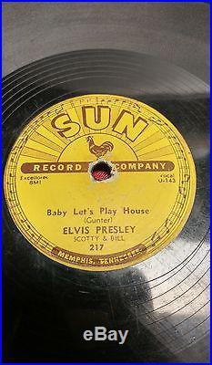 ELVIS PRESLEY Baby Let's play House 78 SUN 217 Rockabilly Original
