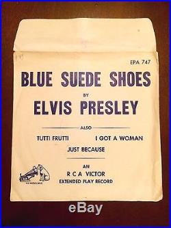 ELVIS PRESLEY- Blue Suede Shoes EPA 747 rare TEMPORARY PREVIEW sleeve