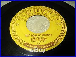 ELVIS PRESLEY/CARL PERKINS Original SUN 45 LOT #209 That's All Right #210 #234