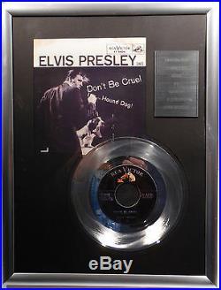 ELVIS PRESLEY Don't be Cruel 7 Platin Schallplatte RCA Record (goldene)