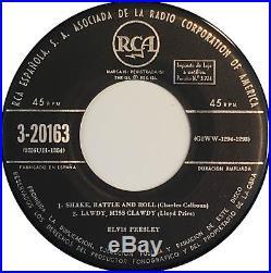 ELVIS PRESLEY EL ROCK AND ROLL DE ELVIS PRESLEY Orig 1sT 1956 SPAIN EP RCA