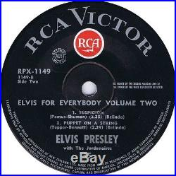 Elvis Presley Elvis For Everybody Volume 2 Ep New Zealand