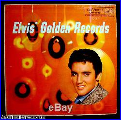 ELVIS PRESLEY-ELVIS' GOLDEN RECORDS-Rare Light Blue Lettering Album Cover-RCA