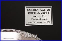 Elvis Presley Elvis Presley Boulevard Platinum Lp Ltd Edition Record Display