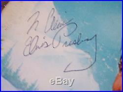 Elvis Presley Genuine Authentic Autograph Signed Record Album To Alice Faye Coa