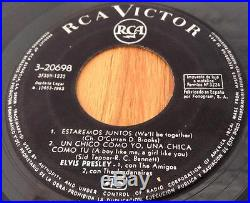 Elvis Presley Girls Girls Girls Ost 1963 Spanish Rca 3-20698 Ep