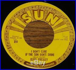 ELVIS PRESLEY GOOD ROCKIN TONIGHT b/w I DON'T CARE IF SUN USA SUN 7 1954