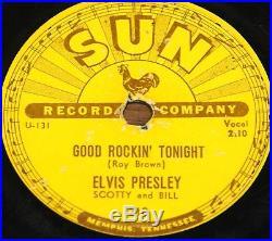 ELVIS PRESLEY GOOD ROCKIN b/w I DON'T CARE IF THE SUN USA SUN 78 RPM VG+ GRADE