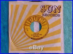 ELVIS PRESLEY Good Rockin' Tonight 45 rpm SUN #210 1954 ORIGINAL 3 PUSH MARKS