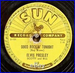 ELVIS PRESLEY, Good Rockin' Tonight /Don't Care If The Sun Don't, SUN-210, V/V