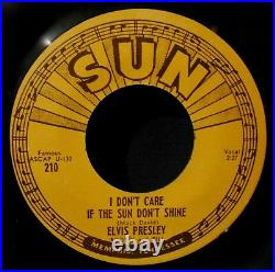 ELVIS PRESLEY-Good Rockin' Tonight & I Don't Care If The Sun-Reissue 45-SUN #210