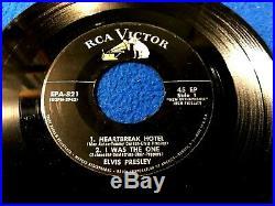 ELVIS PRESLEY Heartbreak Hotel 45 EP RCA EPA 821 nm/nm Silver Line AMAZING