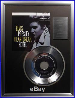 ELVIS PRESLEY Heartbreak Hotel 7 Platin Schallplatte RCA Record (goldene)