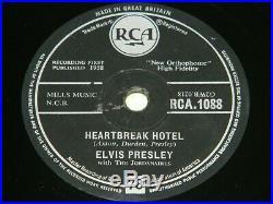 ELVIS PRESLEY Heartbreak Hotel / All Shook Up 1958 UK RCA 1088 78rpm 204