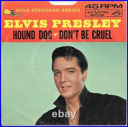 ELVIS PRESLEY Hound Dog/Don't Be Cruel RCA 45 Gold Standard picture sleeve only
