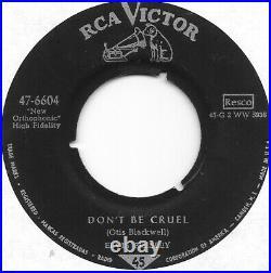 ELVIS PRESLEY Hound Dog on RCA German press US Army release rock 45