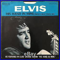 ELVIS PRESLEY How Great Thou Art/His Hand In Mine RCA 0130 RARE SLEEVE PS 45