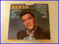 ELVIS PRESLEY JOSHUA FIT THE BATTLE 1966 RCA 447-0651 WithPICTURE SLEEVE