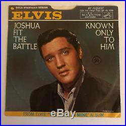 ELVIS PRESLEY Joshua Fit Battle RCA 447-0651 Promo Gold Standard 45 Pic Sleeve