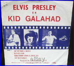 ELVIS PRESLEY Kid Galahad ULTRA RARE RCA 7 1962 EP PERU