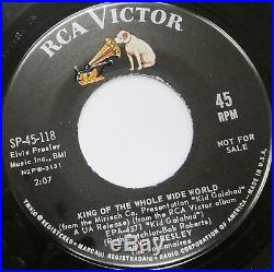 ELVIS PRESLEY Kid Gallahad PROMO 45 SP45-118 MINT 7 with PROMO ONLY SLEEVE