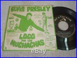 Elvis Presley Loco Por Las Muchachas Megarare 7 Peruvian Ps #412