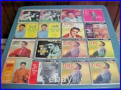 ELVIS PRESLEY LOT OF 38 EP+ PICTURE SLEEVES 45 RPM RECORDS 1950's THRU 70's