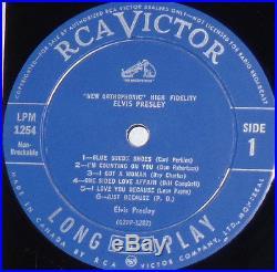 ELVIS PRESLEY LPM-1254 PALE PINK ORIGINAL CND LIGHT BLUE LABEL MINT- LP