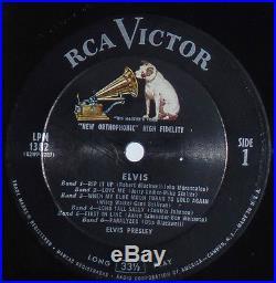 ELVIS PRESLEY LPM-1382 ORIGINAL U. S COPY- BAND 1 TO BAND 6 MINT- LP