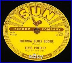 ELVIS PRESLEY MILKCOW BLUES BOOGIE b/w HEARTBREAKER USA SUN 78 RPM E EXCELLENT