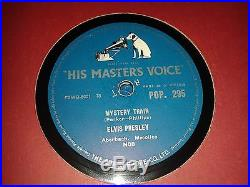 ELVIS PRESLEY MYSTERY TRAIN / LOVE ME. UK. 78rpm (1957)