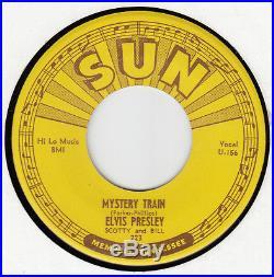 Elvis Presley-mystery Train-original Sun 45 223 Grt Graded 9 Great Rockabilly