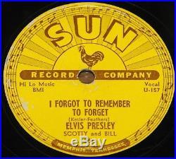 ELVIS PRESLEY MYSTERY TRAIN b/w I FORGOT TO REMEMBER TO SUN 78 RPM E EX GRADE
