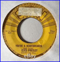 ELVIS PRESLEY Milkcow Blues Boogie 45 SUN 215 First Press PUSH MARKS 1955