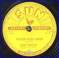 ELVIS PRESLEY Milkcow Blues Boogie 78 on SUN 215 original rockabilly
