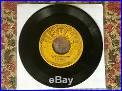 ELVIS PRESLEY Milkcow Blues Boogie / You're a Heartbreaker SUN 215 w Pushmarks