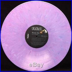 ELVIS PRESLEY Moody Blue 1977 RARE PURPLE MARBLE VINYL LP Experimental Color