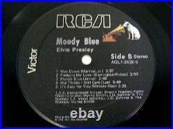 ELVIS PRESLEY Moody Blue RCA AQL1-2428 BLACK VINYL