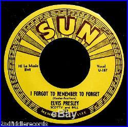 ELVIS PRESLEY-Mystery Train & I Forgot To Remember-Reissue 45-SUN #223