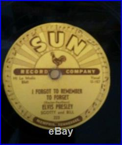 ELVIS PRESLEY -Mystery Train/ I Forgot to remember to forget-SUN 223 78 rpm