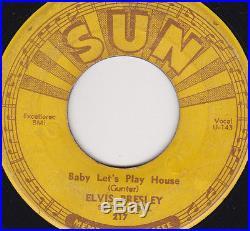 ELVIS PRESLEY ON SUN 217 RECORDS