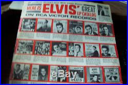 ELVIS PRESLEY ORIGINAL AUTOGRAPH SIGNED RECORD ALBUM LPM 1254 With RARE PD CREDIT