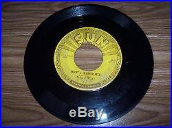 ELVIS PRESLEY ORIGINAL RARE SUN RECORD #215 MILCOW BLUES BOOGIE HAS PUSH MARKS