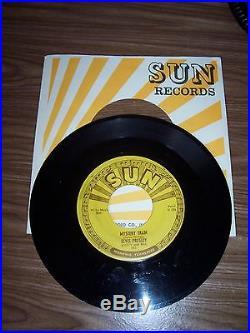 ELVIS PRESLEY ORIGINAL RARE SUN RECORD # 223 MYSTERY TRAIN + SUN SLEEVE