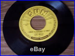 ELVIS PRESLEY ORIGINAL SUN RECORD & SUN SLEEVE #223 MYSTERY TRAIN MINT