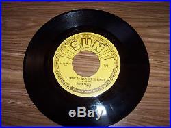 ELVIS PRESLEY ORIGINAL SUN RECORD & SUN SLEEVE # 223 MYSTERY TRAIN MINT