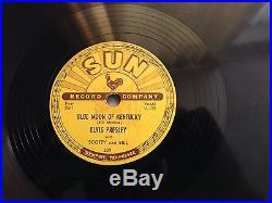 Elvis Presley Original Sun Records 78'thats All Right' Rare Framed