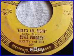 Elvis Presley Original Sun Records Thats All Right 45 RPM
