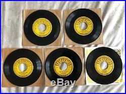 ELVIS PRESLEY Original 1950s SUN 45's. Complete Set of all Five